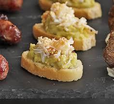 canap toast crab avocado sesame toasts recipe food