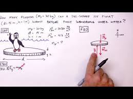 how to solve a buoyant force problem simple example youtube