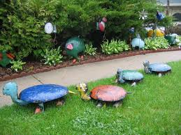 garden decorations from junk home outdoor decoration