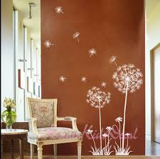 dandelion wall decal flower wall decal floral wall sticker zoom