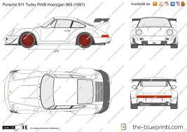 porsche hoonigan the blueprints com vector drawing porsche 911 turbo rwb