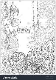 corals fish sea shells on bottom stock vector 462750526 shutterstock