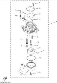 2001 yamaha carburetor parts for 8 hp t8plhz outboard motor