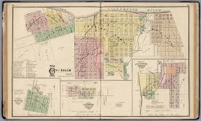 Oregon City Map by City Of Salem Oregon 1878 David Rumsey Historical Map Collection