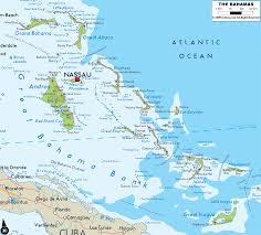 Physical Map Of Florida by Detailed Clear Large Road Map Of Bahamas Ezilon Maps