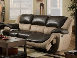 Two Tone Reclining Sofa Two Tone Reclining Sofa Home And Textiles