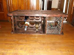 lobster trap coffee table wine rack