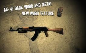Flag With Ak 47 Ak 47 Dark Wood And Metal Updated Left 4 Dead 2 Skin Mods
