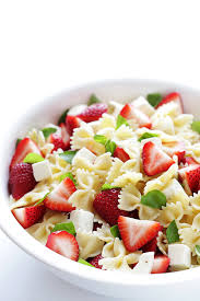 easy cold pasta salad 5 ingredient strawberry caprese pasta salad recipe caprese pasta