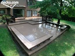 wooden deck with seating home indoors and out pinterest