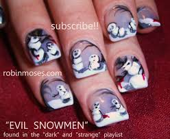 robin moses nail art nail art christmas nail art cute christmas