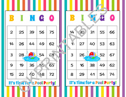 30 it u0027s time for a pool party bingo cards printable pool party