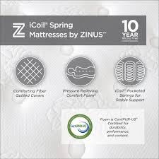 amazon com spa sensations 10 u0027 u0027 memory foam and spring hybrid