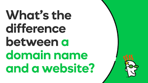s website what is the difference between a domain name and a website
