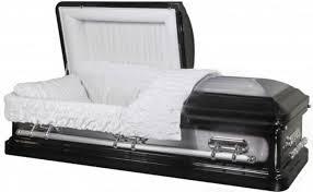 black casket heritage black with silver brush