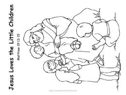 100 ideas jesus and the children coloring pages on