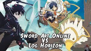 sword art online vs log horizon no spoilers youtube