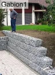 garden gabion retaining wall ideal diy project http www gabion1