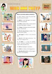 english worksheets mulan