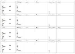 Nursing Report Sheet Templates Best 25 Nursing Organization Ideas On Nursing