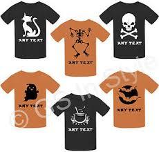 personalised kids halloween t shirt spooky top skeleton ghost bats