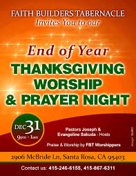 end of year thanksgiving worship prayer faith builders