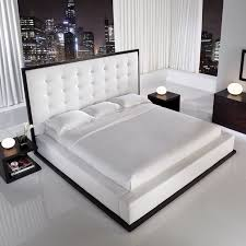 Best Beds Images On Pinterest Bed Room Bedroom Furniture - White leather contemporary bedroom furniture