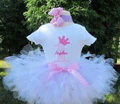 1st birthday tutu personalized pink and white princess crown 1st birthday tutu set