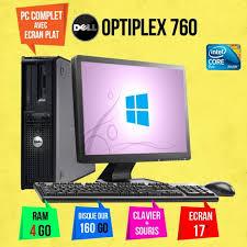 pc bureau avec ecran ordinateur de bureau dell optiplex 760 avec ecran pc 17 pouce