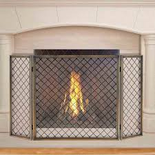 plaid brass fireplace screen med art home design posters