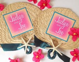 Wedding Program Hand Fans Palm Leaf Hand Fans Etsy
