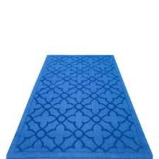 Blue Quatrefoil Rug Buy Flamenco Blue Hand Loomed Area Rug Plush Pile Quatrefoil