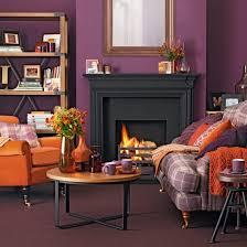 Monty Retro Tv Orange Living Rooms Living Room Decorating Ideas - Purple living room decorating ideas
