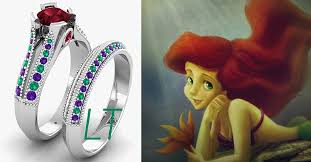 mermaid wedding ring 23 disney inspired engagement rings for your future prince or princess