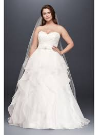 ballgown wedding dresses lace and organza plus size gown wedding dress david s bridal
