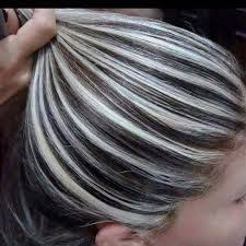 chocolate hair with platinum highlight pictures heavy platinum highlights with rich chocolate brown lowlights no