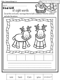 christmas cut and paste worksheets for first grade count counting
