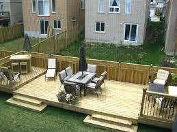 flat decks and small back yard patio designs with deck backyard