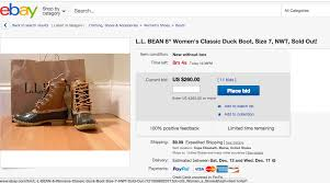 buy boots with paypal want l l bean duck boots right now to ebay pay