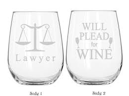 wine themed gifts lawyer student lawyer wine glass 2 sided school