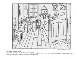 van gogh coloring pages van gogh coloring pages van gogh