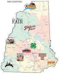 Nh County Map Nh Fairs Association