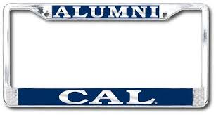 uc berkeley alumni license plate uc berkeley cal alumni polished chrome license plate frame silver