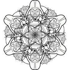 easy star wars snowflakes mandalas print color