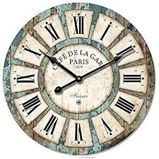 Large Shabby Chic Wall Clock by Vintage Large French Cafe Wall Clock Amazon Co Uk Kitchen U0026 Home