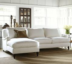 carlisle upholstered sofa with chaise sectional pottery barn