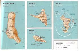 Us Relief Map Comoros Maps Perry Castañeda Map Collection Ut Library Online