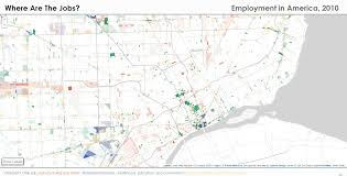 Detroit In World Map by Map Where Are The Jobs In Detroit Detroitography