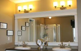 framing bathroom mirror with molding how to frame a bathroom mirror with crown molding bathroom decor