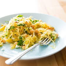weekend recipe spaghetti squash salad with chickpeas and feta kcet